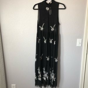 Blush noir sheer dress
